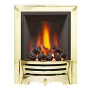Be Modern Mayfair Brass Rotary Control Gas Inset Fire