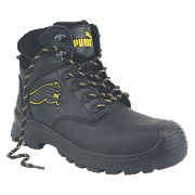 Puma Borneo Mid-Safety Boots Black Size 8