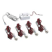 Sensio Specto LED Plinth Lights Kit Chrome Pack of 4