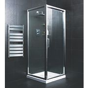 Pivot Door Shower Enclosure Polished Silver 740mm