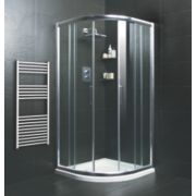Moretti Quadrant Shower Enclosure w/ Tray & Waste Double Sliding Door Silver 900mm