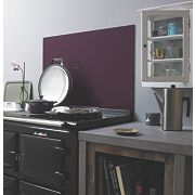 Aubergine Self-Adhesive Toughened Glass Splashback 750 x 900 x 6mm