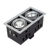 Halolite Recessed Satin Silver 2-Light Spotlight 240V