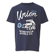"Site Trucker T-Shirt Blue Medium 39-42"" Chest"