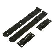 Gate Hinge Pack Black 40 x 356 x 150mm