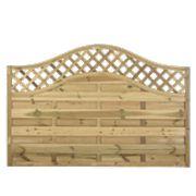 Forest Prague Wave-Top Lattice Fence Panels 1.8 x 1.2m Pack of 5
