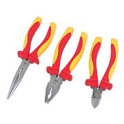 Forge Steel 3pc VDE Pliers Set