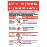 COSHH Safety Poster 600 x 420mm