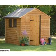 Forest Larchlap Overlap Apex Shed 8 x 6 x 7