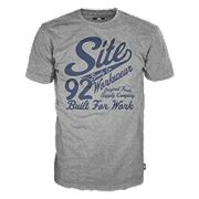 """Site Banner T-Shirt Grey Marl Large 42-45"""" Chest"""