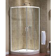 Aqualux White Quadrant Shower Enclosure 900 x 1850mm