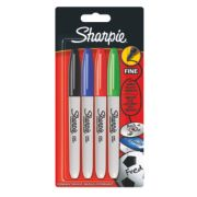 Sharpie Permanent Markers Mixed Colours Pack of 4