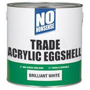 No Nonsense Trade Acrylic Eggshell Emulsion Paint Brilliant White 2.5Ltr