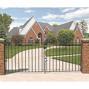 Metpost Wenlock Double Gate Black 1275 x 900mm