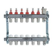 JG Speedfit 6-Port Manifold Set Chrome