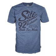"Site Banner T-Shirt Blue Medium 40"" Chest"