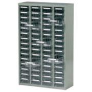 Steel Drawer Cabinet with 60 Bin Trays 586 x 222 x 937mm Grey