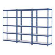3 Shelving Bays Blue 923 x 619 x 1830mm
