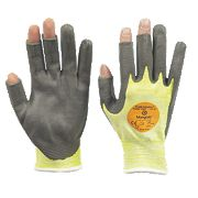 Marigold Industrial P3000 Cut 3 3 DO PU Nitrile-Coated Gloves Yellow Large