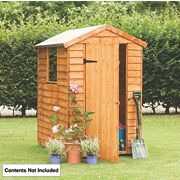 Forest Larchlap Premium Overlap Apex Shed 4 x 6 x 7
