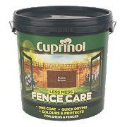Cuprinol Less Mess Fence Care Rich Rustic Brown 9Ltr