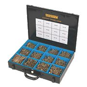 Goldscrew Plus Woodscrews Expert Trade Case Double Self-Countersunk Pack of 2800