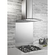 Curved Glass Cooker Chimney Hood Stainless Steel 600mm