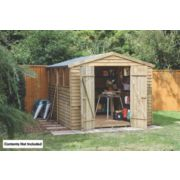 Forest Overlap Apex Shed 8' x 10' x 7' (Nominal)