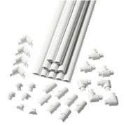 D-Line Micro Trunking White 16mm x 8mm x 2m Pack of 10