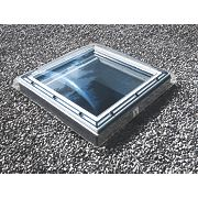 Velux Electric Flat Roof Window & Clear Dome Clear 900 x 900mm