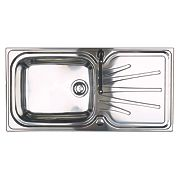 Astracast Korona Kitchen Sink 1 Bowl & Reversible Drainer 1000 x 500mm