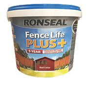 Ronseal Fence Life Plus Shed & Fence Treatment Red Cedar 9Ltr