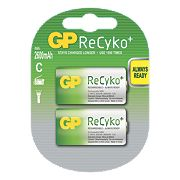GP Batteries ReCyko+ Rechargeable Batteries C Pack of 2