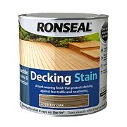 Ronseal Decking Stain Country Oak 2.5Ltr