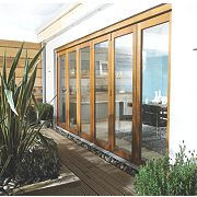 Jeld-Wen Slide & Fold Patio Door Set Oak Veneer 4194 x 2094mm