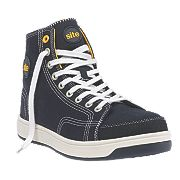 Site Norite Hi-Top Safety Trainers Black Size 7