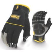 DeWalt 3-Finger Framers Gloves Black / Yellow Large