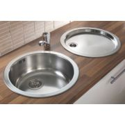 Pyramis 1 Bowl Kitchen Sink with Tap & Drainer Stainless Steel 450 x 450mm