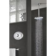 Triton Sirona Gravity Pumped Flexible Digital Shower Satin Chrome
