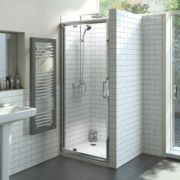 Moretti Pivot Shower Door Silver 900mm
