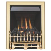 Focal Point Blenheim Brass Rotary Control Gas Inset Multiflue Fire