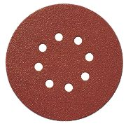 Titan Sanding Disc D-Weight 150mm 8-Hole Punched Hook & Loop 60 Grit Pk10