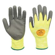 Marigold Industrial Puretough P3000 Cut 3 PU/Nitrile Gloves Grey/Yellow Large