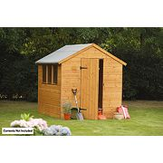 Larchlap Shiplap Single Door Apex Shed 6