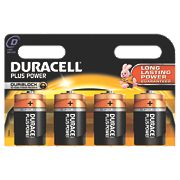 Duracell D Alkaline Batteries Pack of 4