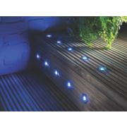 Apollo Deck Light Kit Polished Stainless Steel Blue 0.05W Pack of 10