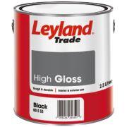 Leyland Trade Gloss Paint Black 2.5Ltr
