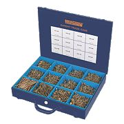 Goldscrew Plus Woodscrews Expert Trade Case Double-Self-Countersunk 2800Pcs