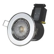 Robus 30, 60 & 90min Fire Rated Fixed LED Downlight IP20 Chrome 50W
