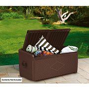 Keter XL Rattan Style Garden Storage Box 1.3 x 0.6 x 0.6m